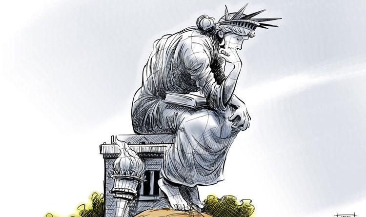 كريكاتير نصب الحرية