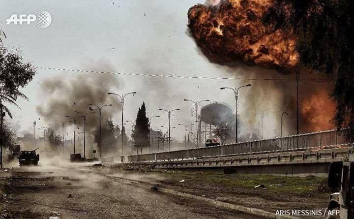 تفجير عملاق في الموصل