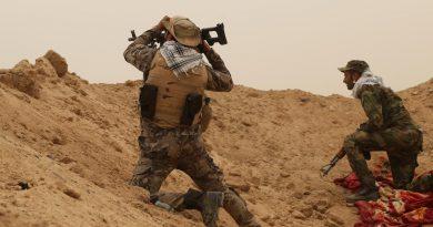 الحشد الشعبي يصد تعرضاً على الحدود السورية العراقية ويقتل 10 عناصر من داعش