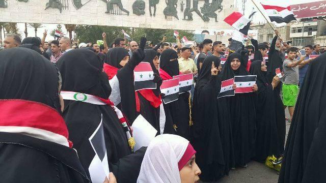 مظاهرات الصدر دعم لسوريا