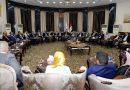 النجيفي يترأس اجتماعا موسعا بحضورعدد كبيرمن القيادات والوزراء والنواب الفائزون في الانتخابات