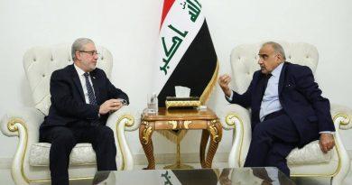 نائب رئيس مجلس النواب يبحث مع رئيس الوزراء تطورات الأوضاع الأمنية والسياسية على الساحة العراقية، ويدعو الى الاسراع في اطلاق مستحقات الفلاحين.